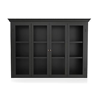 Cameo Bruno Black Modular Hutch with Glass Doors