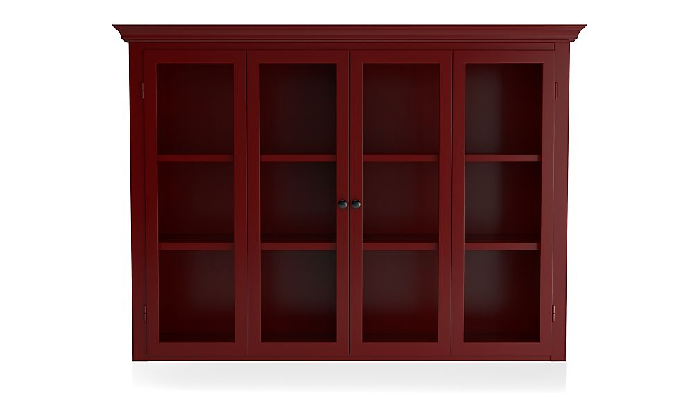 Cameo Red Modular Hutch with Glass Doors - Image 1 of 4