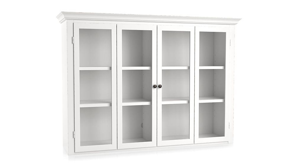 Cameo White Modular Hutch with Glass Doors
