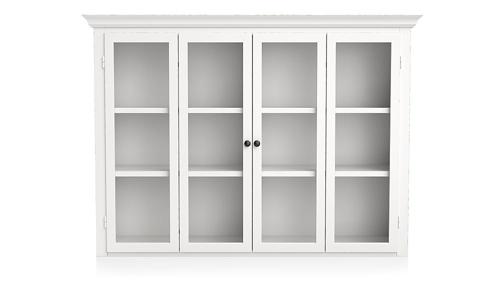 Cameo White Modular Hutch With Glass Doors Reviews Crate And Barrel