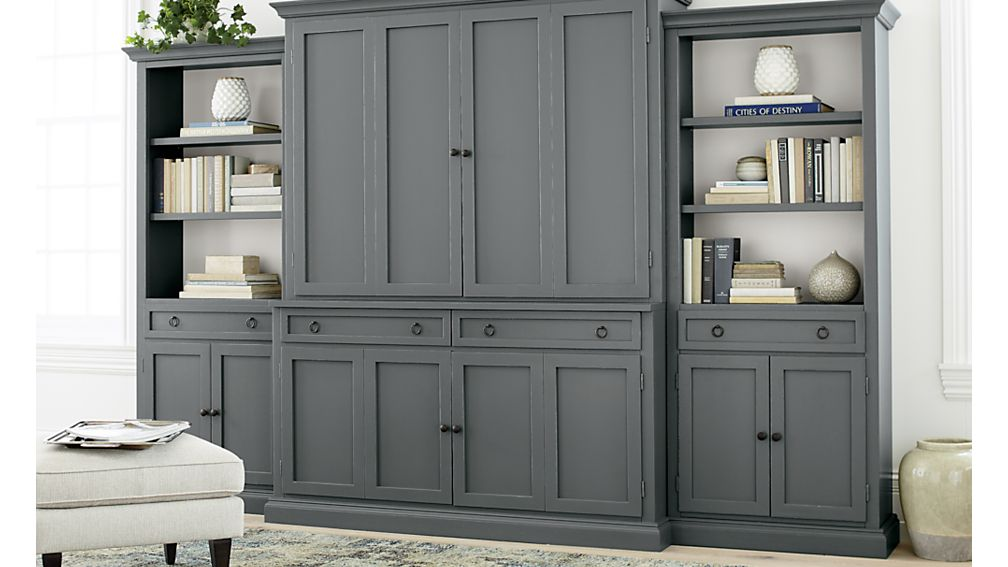 Cameo Grey Modular Media Hutch
