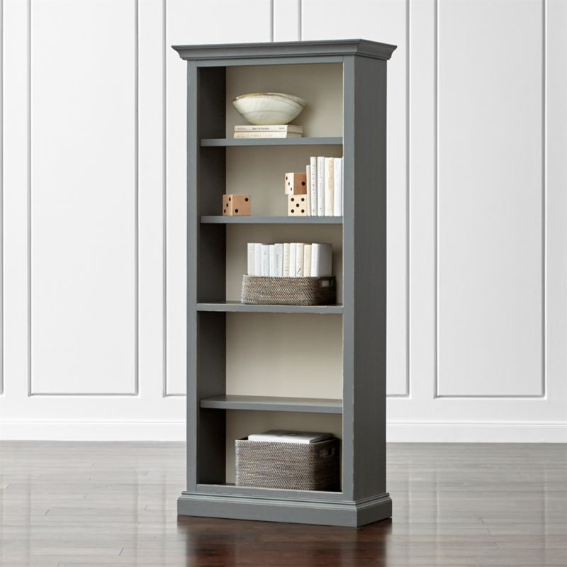Cameo Grey Open Bookcase Reviews Crate And Barrel