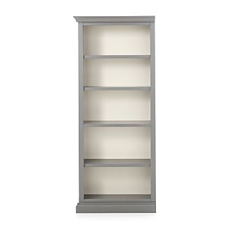 Cameo Grey Left Open Bookcase