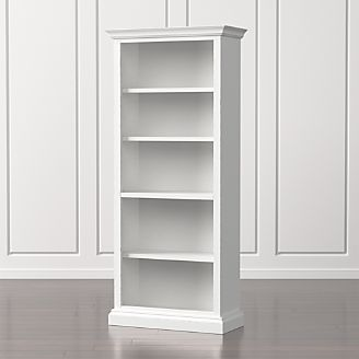 cameo white open bookcase