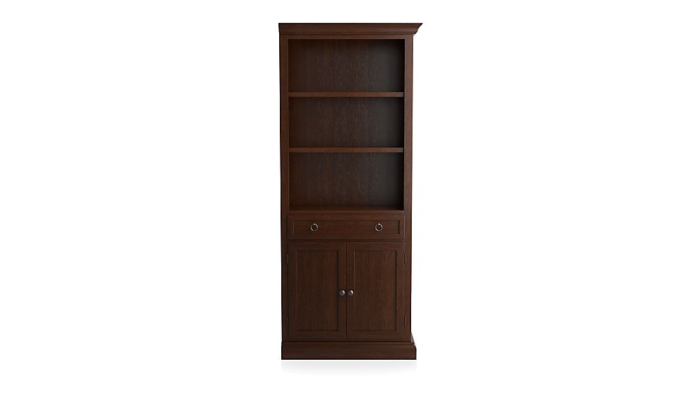 Cameo Aretina Walnut Right Storage Bookcase