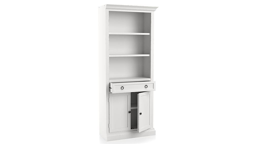 Cameo White Right Storage Bookcase