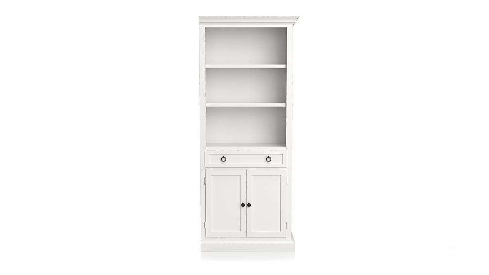 Cameo White Right Storage Bookcase - Image 1 of 2