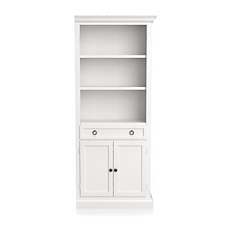 Cameo White Right Storage Bookcase