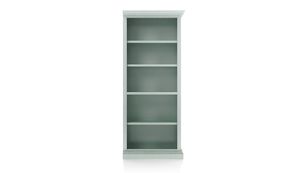 Cameo Blue Grey Open Bookcase with Right Crown - Image 1 of 3