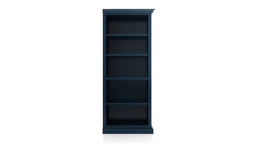 Cameo Indigo Open Bookcase with Right Crown - Image 1 of 3