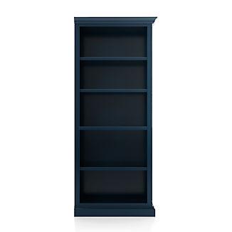 Cameo Indigo Open Bookcase with Right Crown