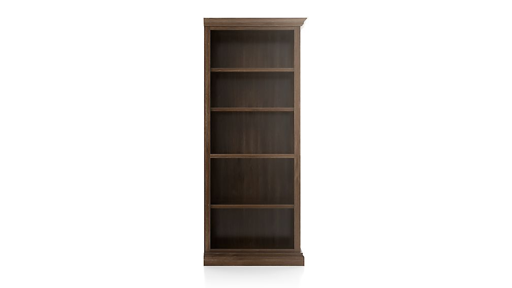Cameo Nero Noce Open Bookcase with Right Crown - Image 1 of 3
