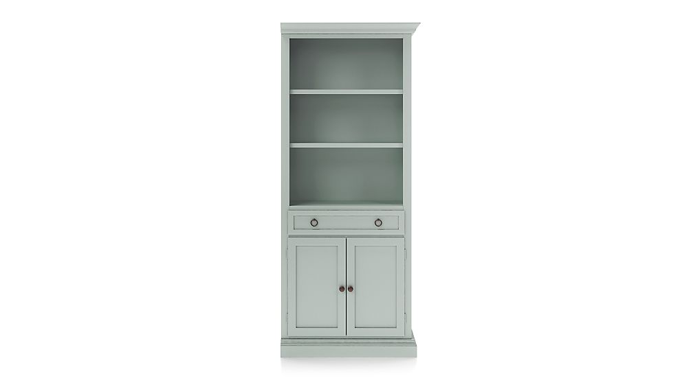 Cameo Blue Grey Storage Bookcase with Right Crown - Image 1 of 3