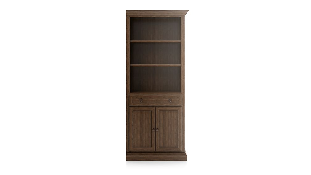Cameo Nero Noce Storage Bookcase with Right Crown - Image 1 of 3