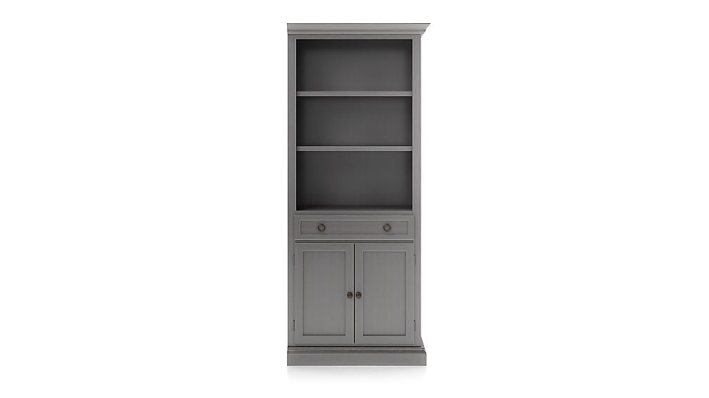 Cameo Grigio Storage Bookcase with Right Crown - Image 1 of 3