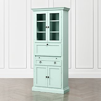 Cameo Blue Grey Secretary Desk