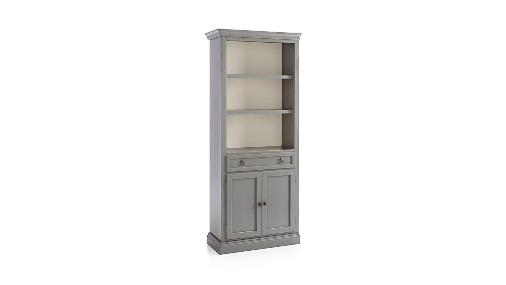 Cameo Grey Left Storage Bookcase