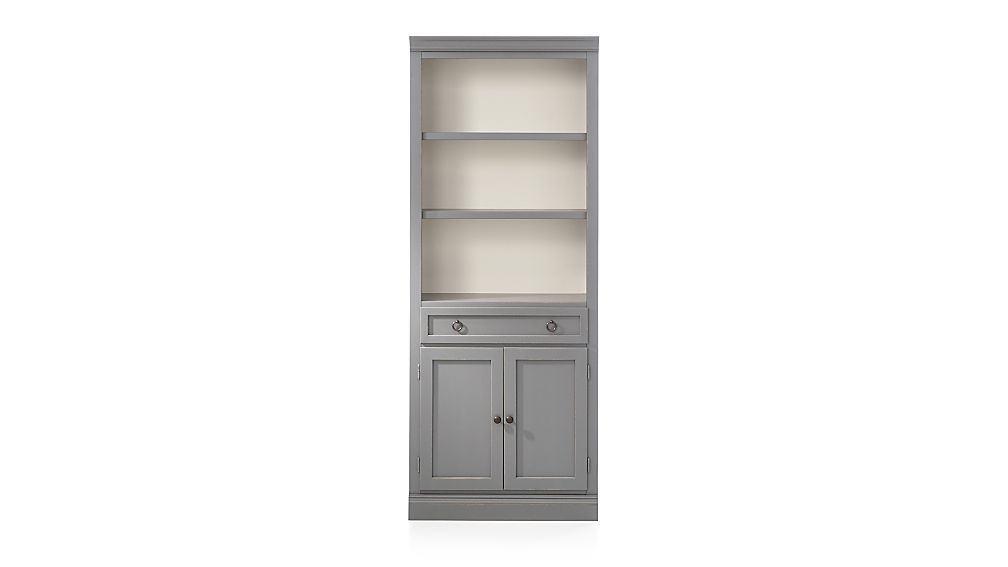 Cameo Grey Middle Storage Bookcase