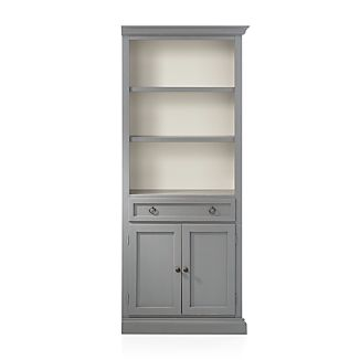 Cameo Grey Right Storage Bookcase