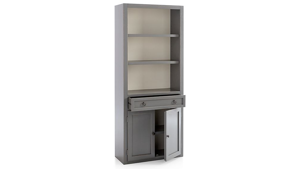 Cameo Grey Left Storage Bookcase