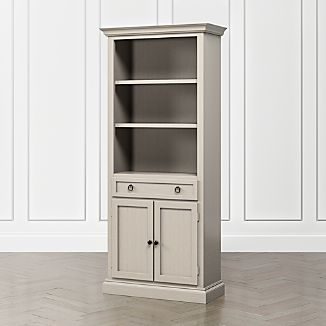 Ordinaire Cameo Pinot Grigio Storage Bookcase With Full Crown