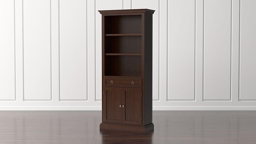 Cameo Aretina Walnut Storage Bookcase