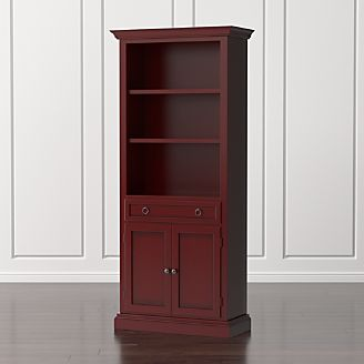 cameo red storage bookcase