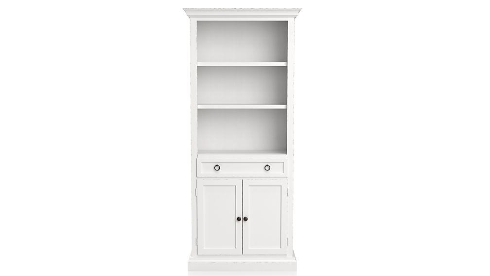 Cameo White Storage Bookcase