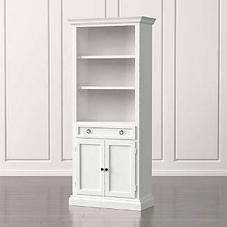 Cameo White Storage Bookcase