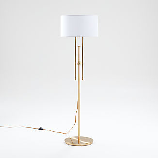Cameron Brass Adjustable Floor Lamp