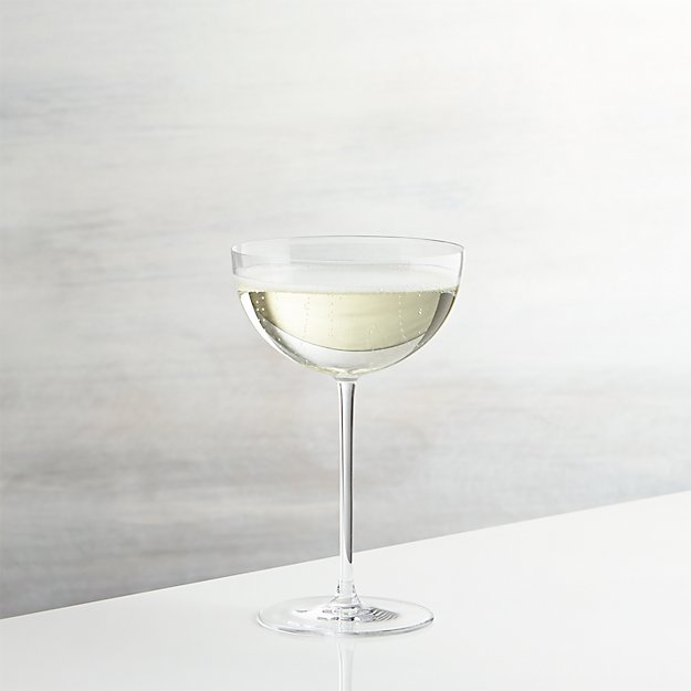 camille long stem champagne coupe glass reviews crate and barrel. Black Bedroom Furniture Sets. Home Design Ideas