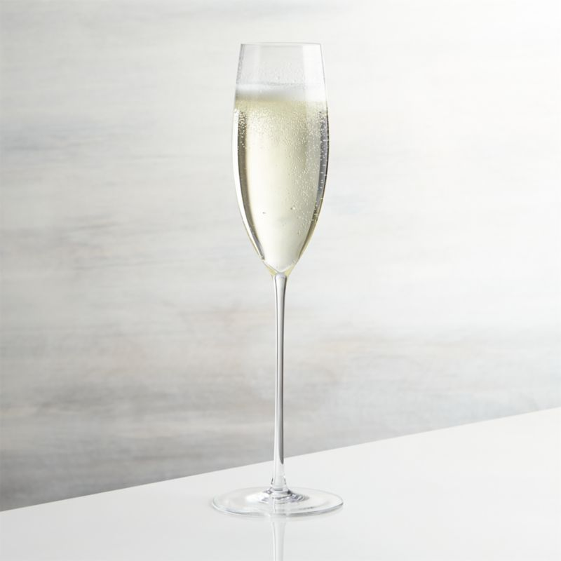 Handcrafted flute rises to the occasion on elongated slender stem to serve champagne and other sparkling drinks.<br /><br /><NEWTAG/><ul><li>Handmade glass</li><li>8 oz.</li><li>Fire-polished rim</li><li>Pulled stem</li><li>Hand wash</li><li>Made in Slovakia</li></ul>