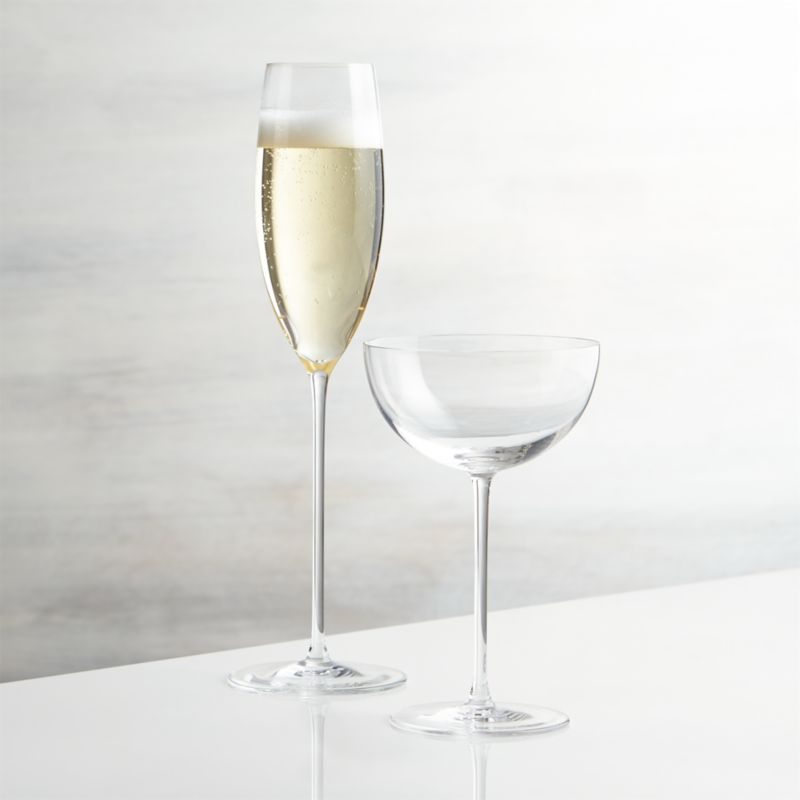 camille champagne glasses crate and barrel