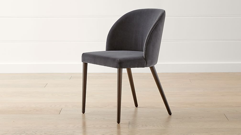Camille Anthracite Italian Dining Chair - Image 1 of 10