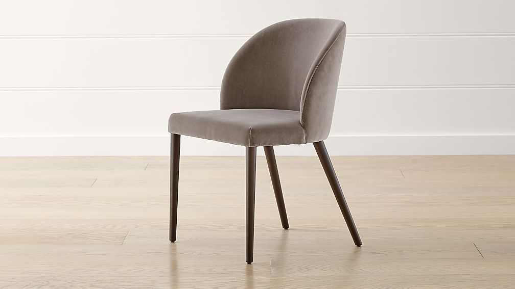 Camille Taupe Italian Dining Chair - Image 1 of 6