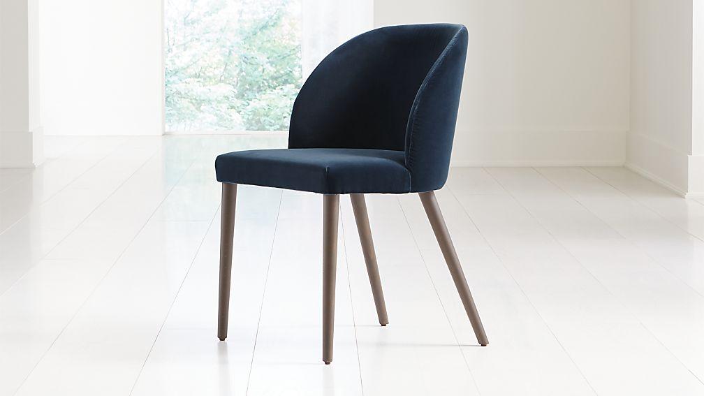 Camille Navy Velvet Dining Chair - Image 1 of 7