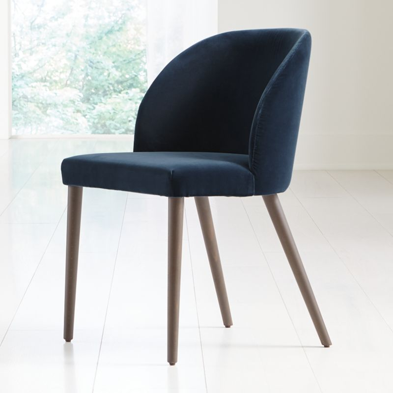 Enjoyable Camille Navy Velvet Dining Chair Bralicious Painted Fabric Chair Ideas Braliciousco