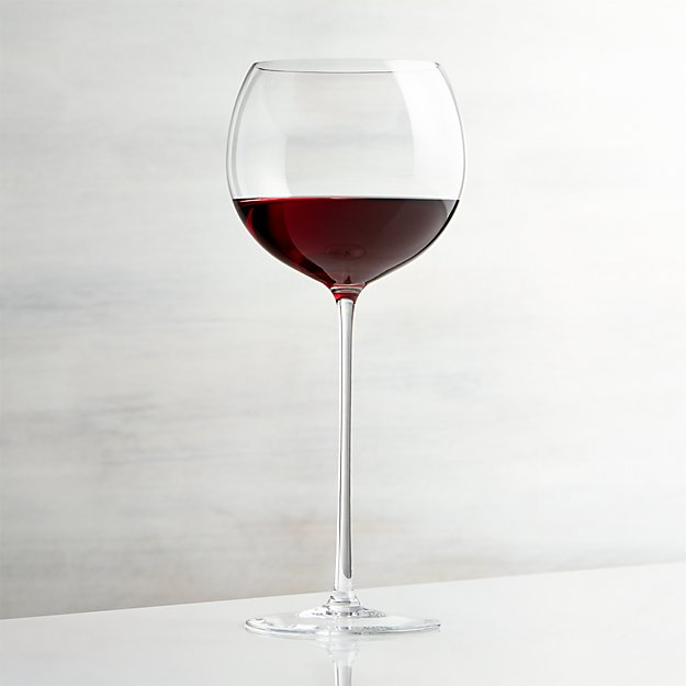 Camille 23 Oz Long Stem Wine Glass Red Reviews Crate And Barrel