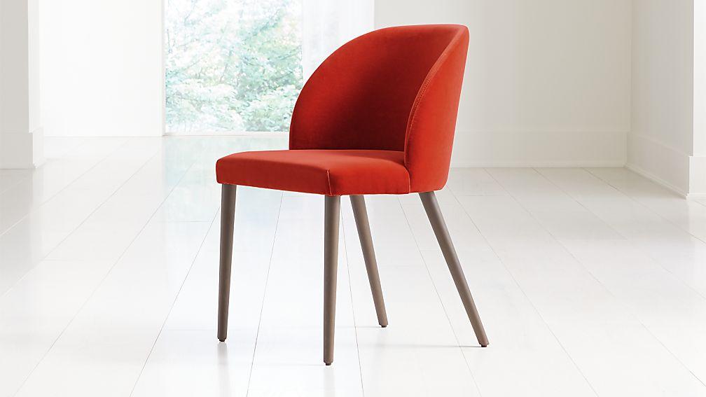 Camille Burnt Orange Velvet Dining Chair - Image 1 of 8