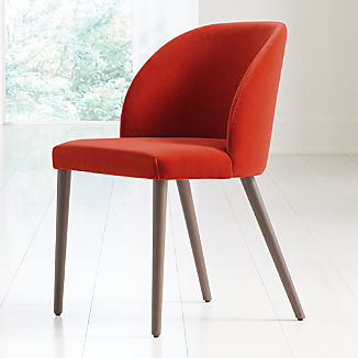 Camille Burnt Orange Velvet Dining Chair