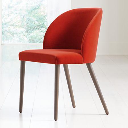 Enjoyable Camille Burnt Orange Velvet Dining Chair Squirreltailoven Fun Painted Chair Ideas Images Squirreltailovenorg