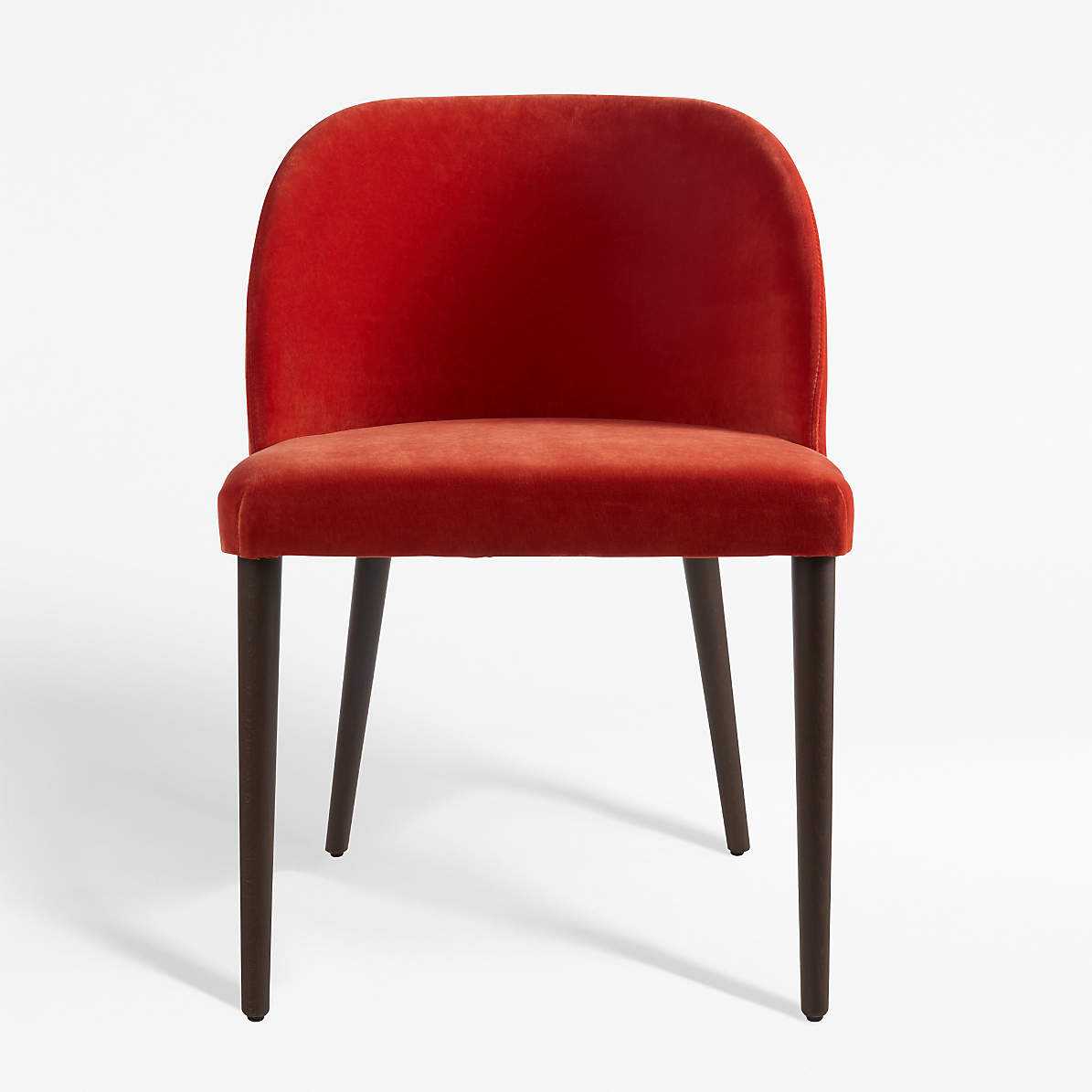 Picture of: Camille Burnt Orange Velvet Dining Chair Reviews Crate And Barrel