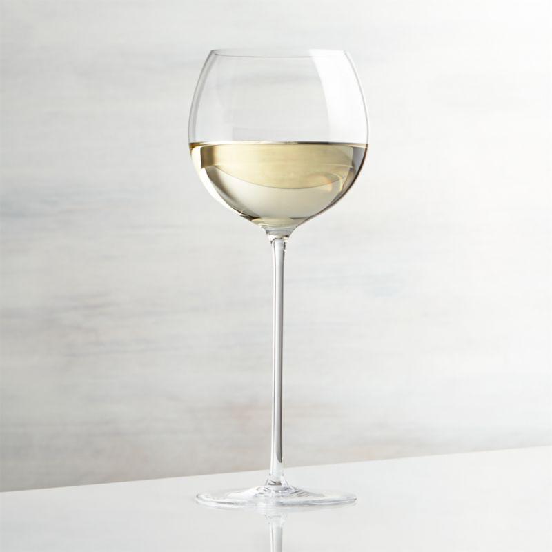 Handmade glass rises to the occasion on elongated slender stem with a bubble bowl that's perfect for cradling in hand to allow wines to open up and breathe.<br /><br /><NEWTAG/><ul><li>Glass</li><li>13 oz.</li><li>Fire-polished rim</li><li>Pulled stem</li><li>Hand wash</li><li>Made in Slovakia</li></ul>