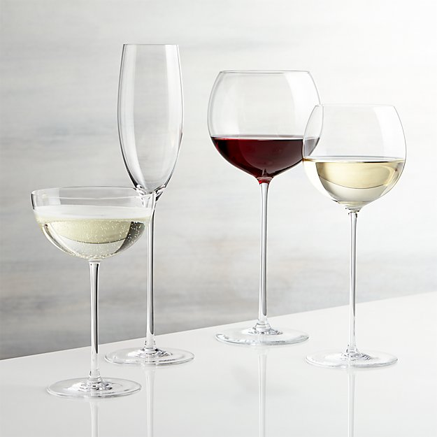 Camille Long Stem Wine Glasses Crate And Barrel