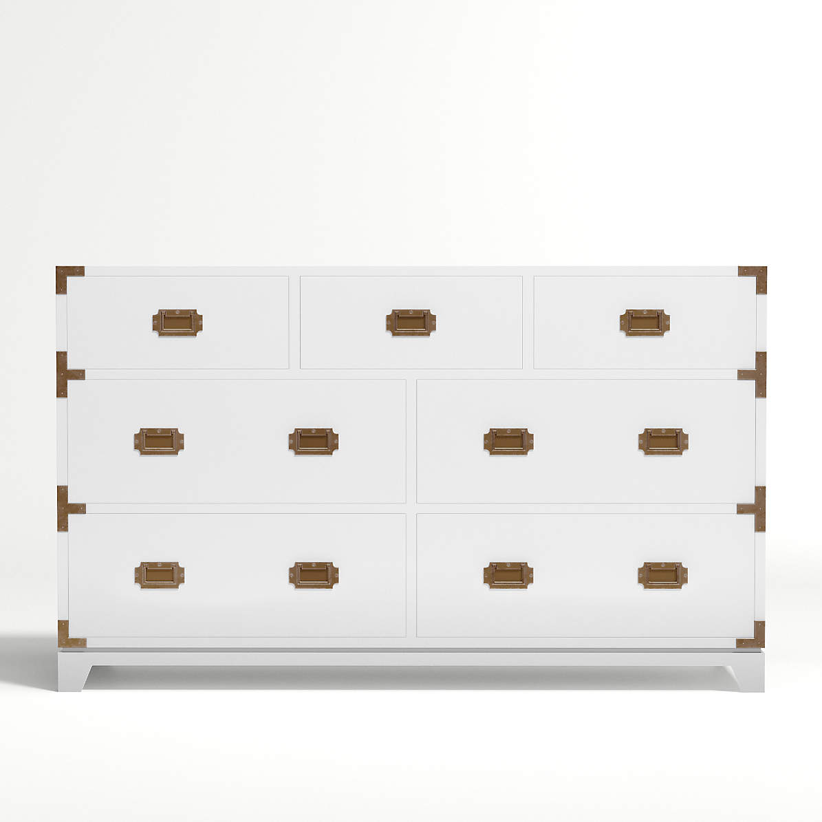 Kids White Campaign Wide Dresser + Reviews  Crate and Barrel