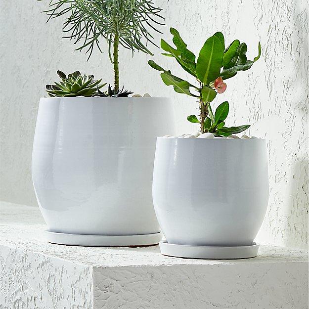 campana white planters crate and barrel. Black Bedroom Furniture Sets. Home Design Ideas