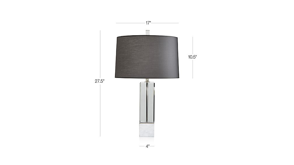 Tap to zoom image with dimension for campbell crystal table lamp