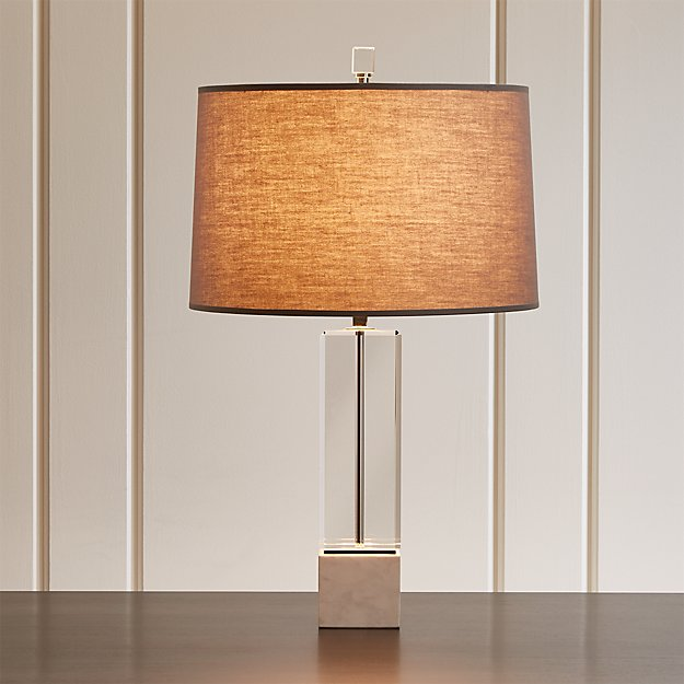 Campbell Crystal Table Lamp Reviews Crate And Barrel