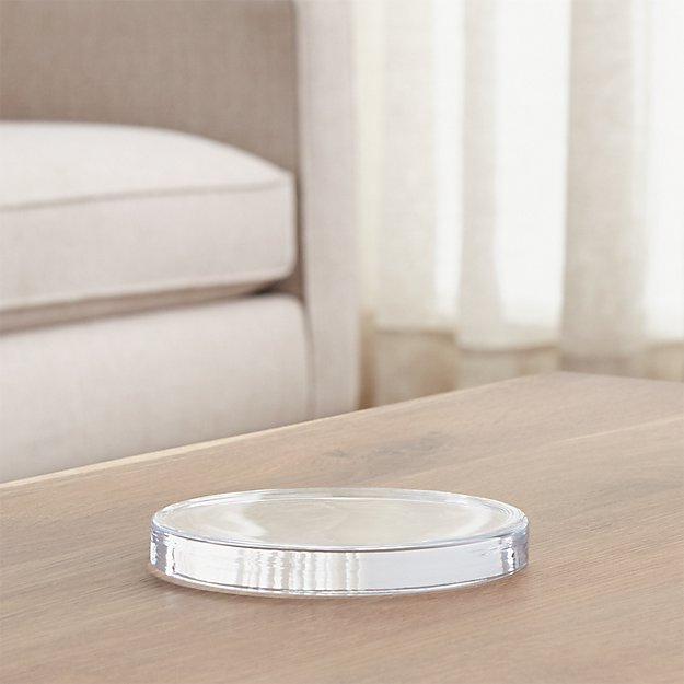 Large Round Glass Candle Plate Coaster - Image 1 of 9