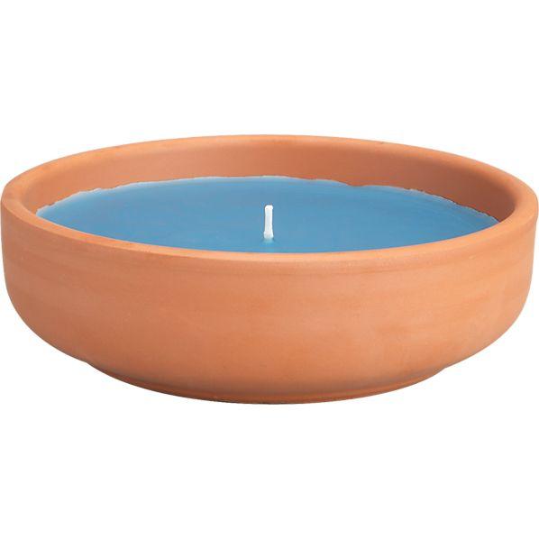 Turquoise Citronella Candlepot